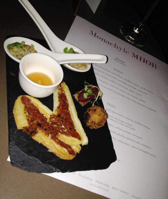 Monachyle Mhor restaurant appetizer