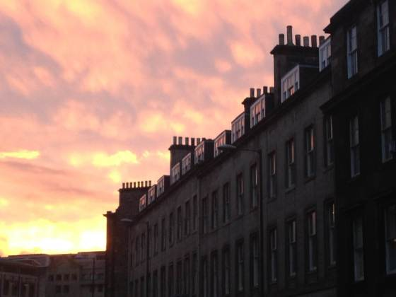 Winter Sunset in Edinburgh