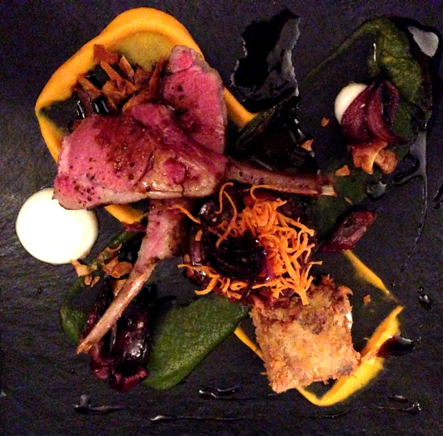 Lamb main course at the Atelier Edinburgh
