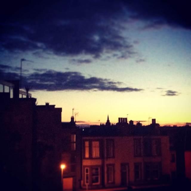 Sunset over Stockbridge Edinburgh